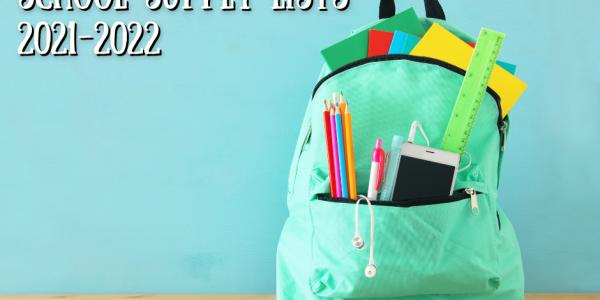2021 – 2022 School Supplies
